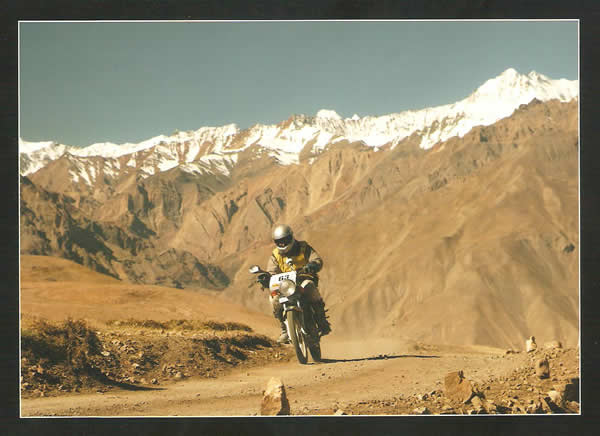Santhosh in Himalayan Rally
