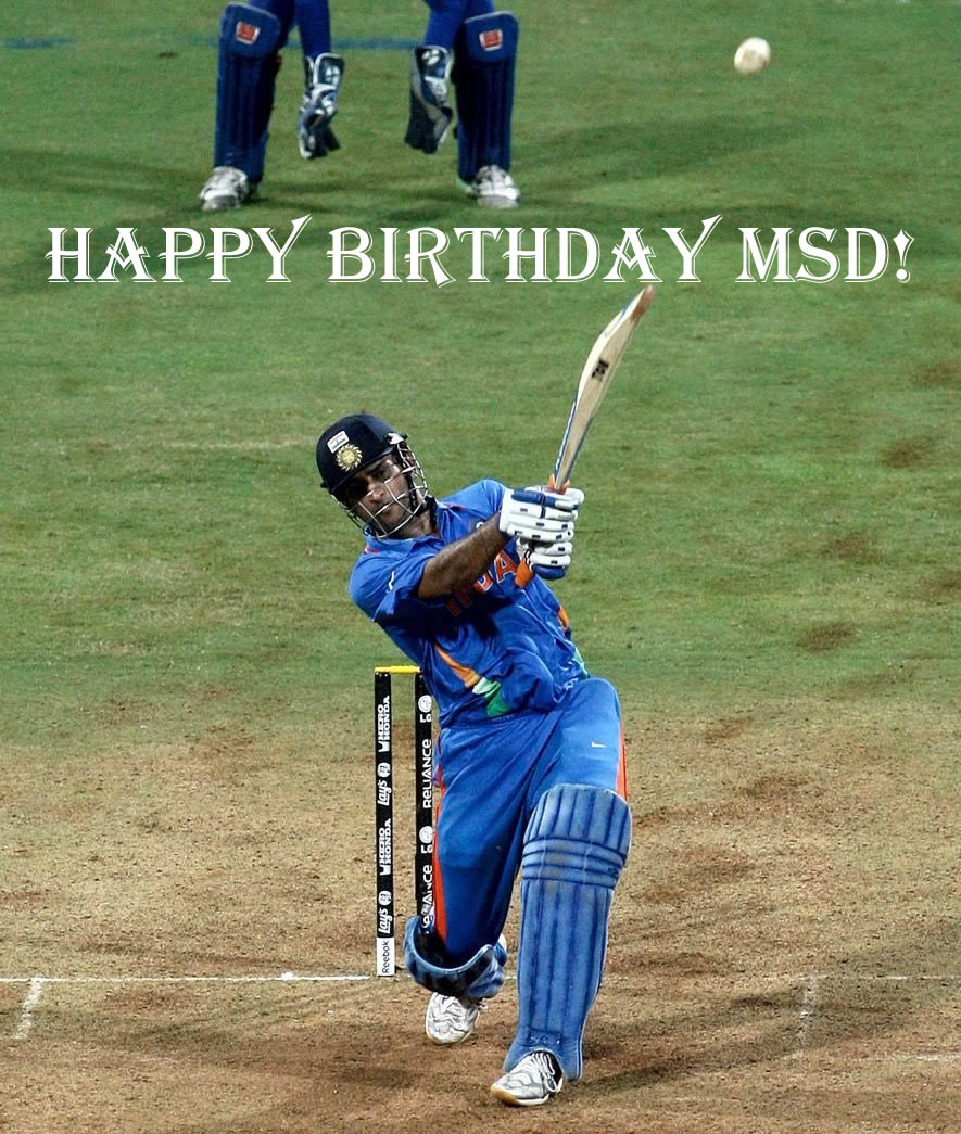 HappyBirthdayMSDhoni
