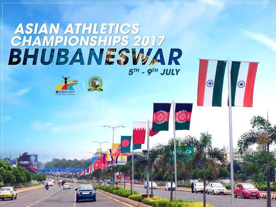 bhubaneshwar roads for asian athletics championship